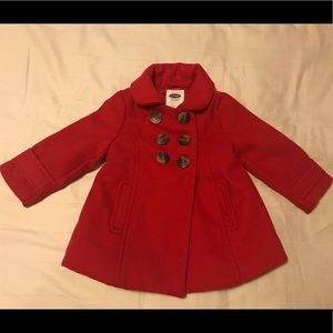 12-18 Month Old Navy Red Peacoat